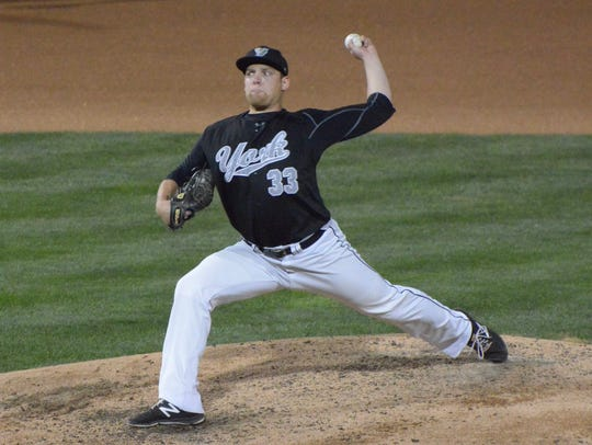 York Revolution pitcher Luke Westphal will return to the club for the 2018 season. DISPATCH FILE PHOTO