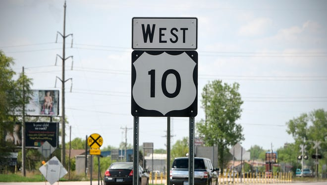 Traffic moves along U.S. Highway 10 Wednesday, May 16, in St. Cloud.
