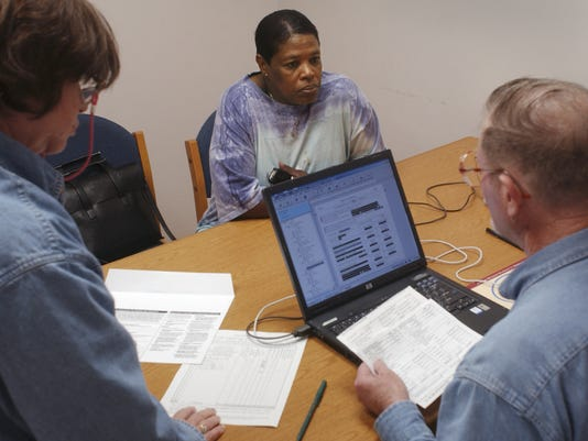 AARP tax help at library 1