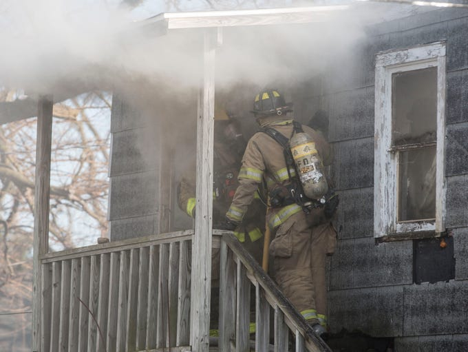 Firefighters from the Muncie Fire Department respond