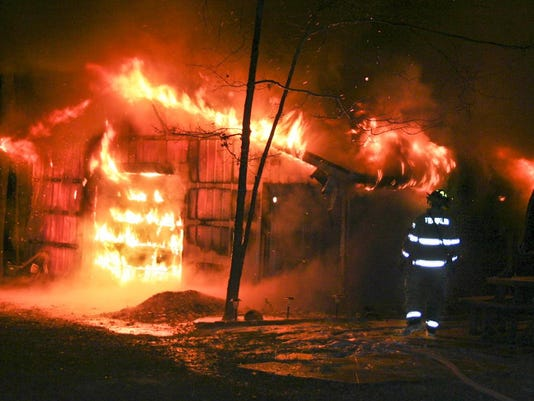 Crall Road garage fire