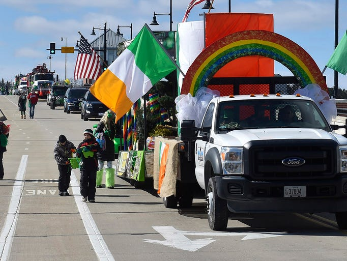 The annual St. Patrick's Day Parade marches over the