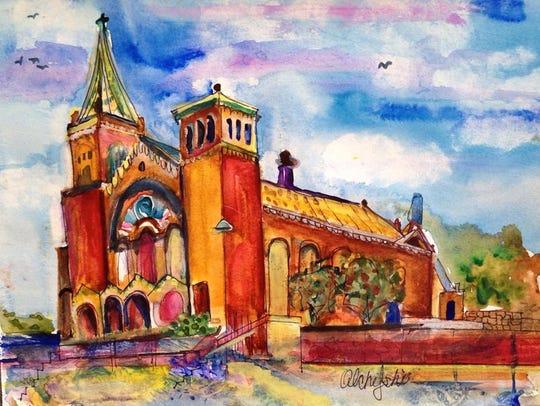 """""""St. Patrick Cathedral"""" by Pat Olchefski-Winston."""