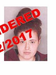 Waynesboro Police wanted flyer for Jessica Lynn Samick
