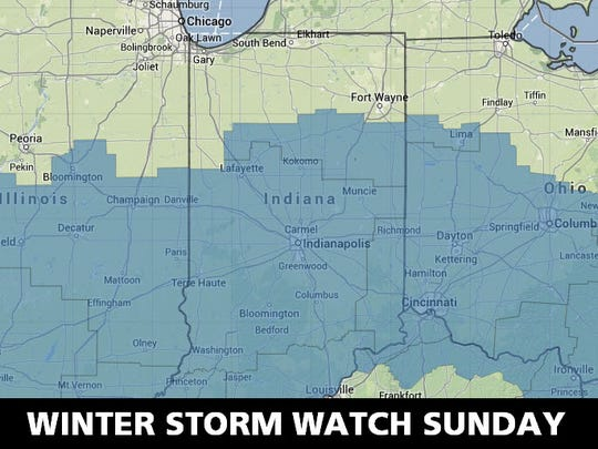 Winter storm watch area.