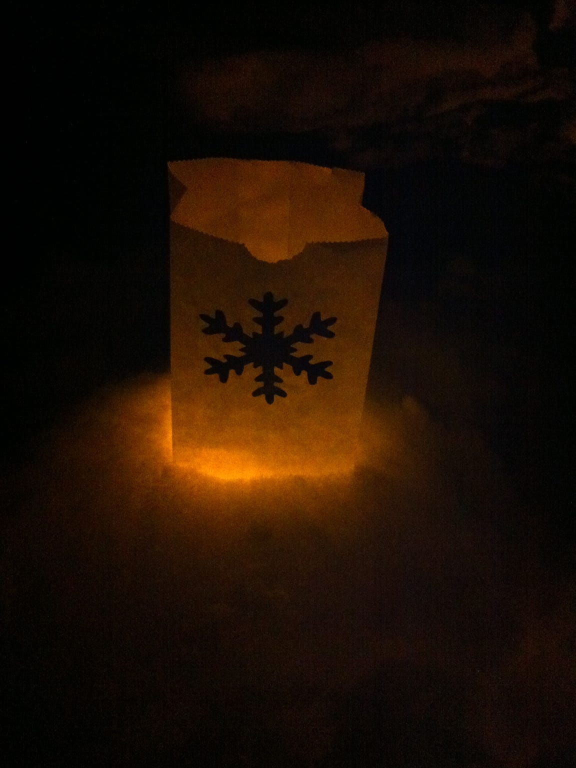 Luminaries will light the path for the snowshoe hikes