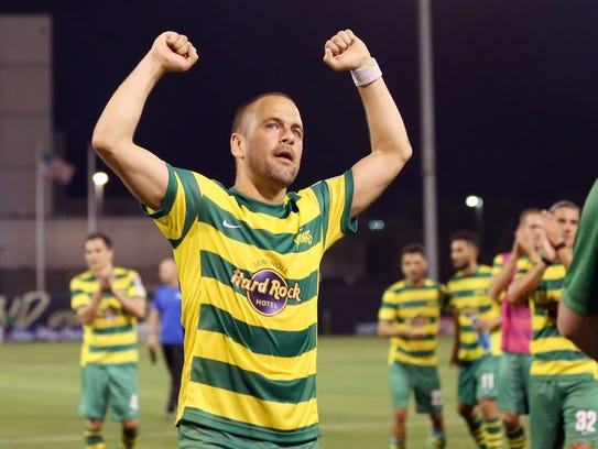 Former Chelsea midfielder Joe Cole joined the Tampa
