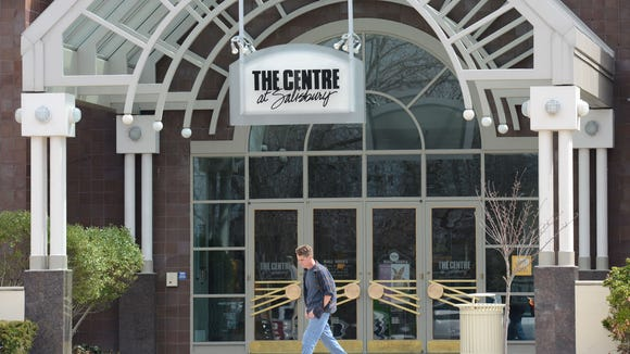 A patron leaves the Centre at Salisbury.