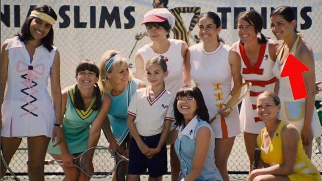 """Lauren Kline with castmates of """"Battle of the Sexes."""""""