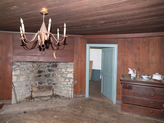 One of the rooms in the historic Elijah Miller house
