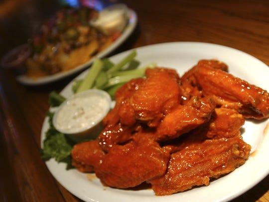 Buffalo wings, at O'Bryon's Irish Pub.