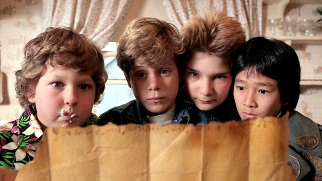 """""""I'm very proud of ten-year-old me and that he was able to make such an impact,"""" said Jeff Cohen, left, who played Chunk in """"The Goonies."""""""