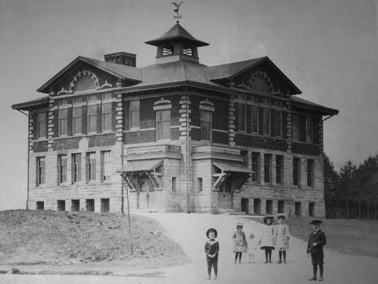 An undated photo of the Village School in Closter.