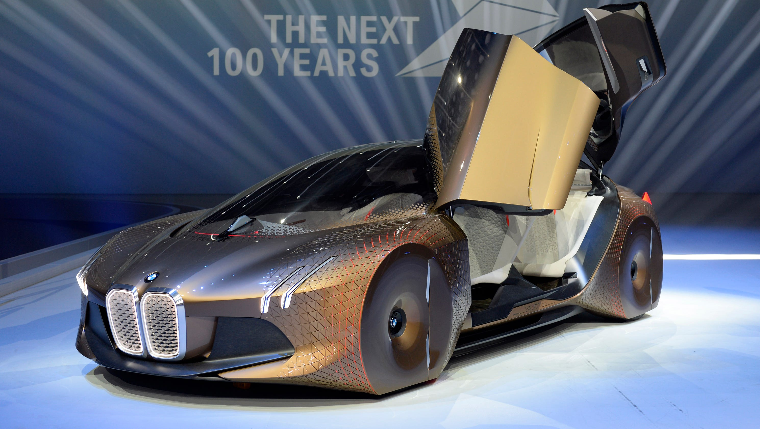 bmw marks 100 years with self driving sedan concept. Black Bedroom Furniture Sets. Home Design Ideas