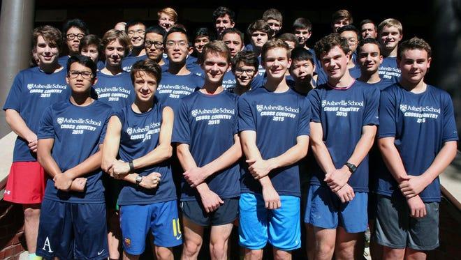 The Asheville School boys cross country team.