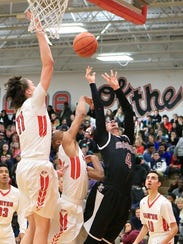 Churchill's Jon Hovermale got fouled on this second-quarter