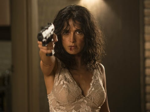Salma Hayek takes on The Yakuza in the new action thriller 'Everly.'