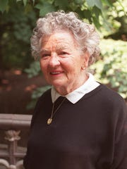 Author Lillian Ross enjoys the morning sun in New York's