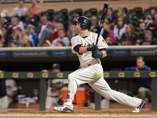 Minnesota Twins second baseman Brian Dozier, a former