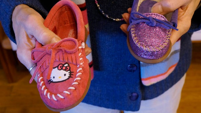 Hands On Leather and Jewelry features Minnetonka moccasins, including styles for kids.