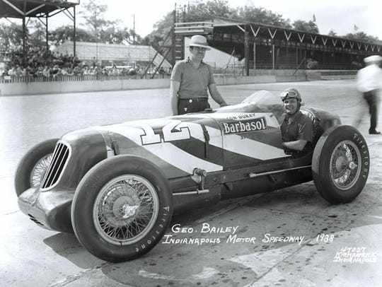 George Bailey drove the Duray-Barbasol Special in the