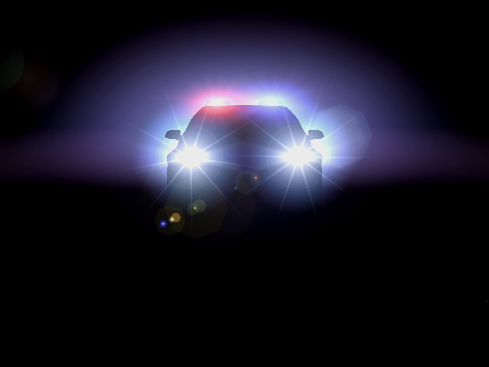 Police lights at night. & Fort Myers Cape Coral Bonita Springs Lehigh Acres news azcodes.com