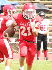 Cobre's Desi Montoya has run the ball well for the Indians over the past several weeks. The rushing game is going to be a big key for the Indians during Friday night's rivalry game with Silver High.