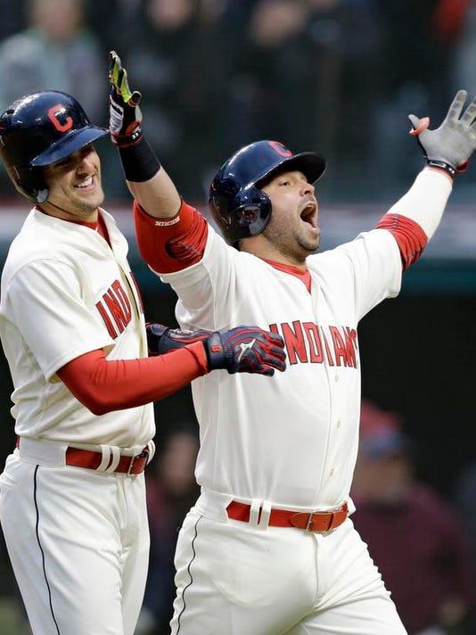 APTOPIX Twins Indians Baseball