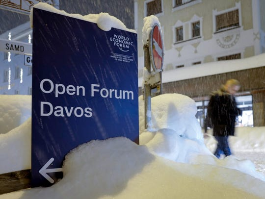 Davos, Switzerland, on Jan. 21, 2018.