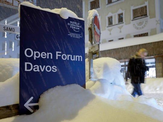 Davos, Switzerland, on Jan. 21, 2018.