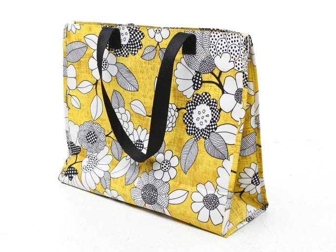 Cheerful yellow bag from Regalo.  July 10, 2014