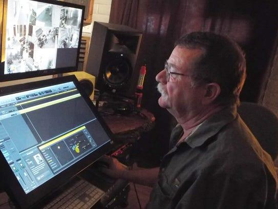 Garrett Hobson reviews an audio track in the SPOT control