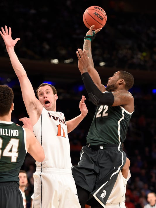 Michigan State edges top-seeded Virginia to reach Elite 8