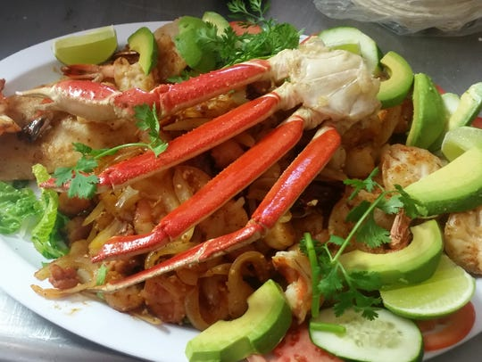 Parrillada de Mariscos is a grilled combination meal