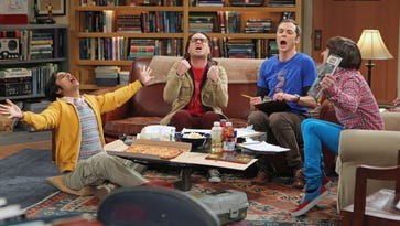"""A publicity image from the """"Big Bang Theory."""" From left are  Kunal Nayyar, Johnny Galecki, Jim Parsons and Simon Helberg."""
