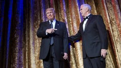 Donald Trump and Mike Pence will appear at the official