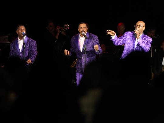 The Temptations thrill a full house Thursday during their first concert in San Angelo at Foster Communications Coliseum.