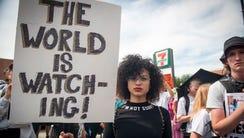 Ysanel Torres of Rhode Island attends a Black Lives