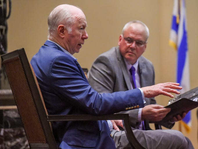 David Gergen (left), senior political analyst for CNN
