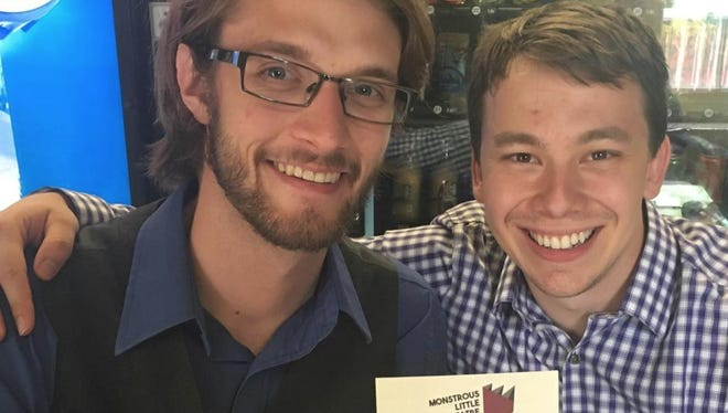 Matt Stoffel (right) poses for a photo with another co-founder of Sioux-Falls based Monstrous Little Theatre Company.
