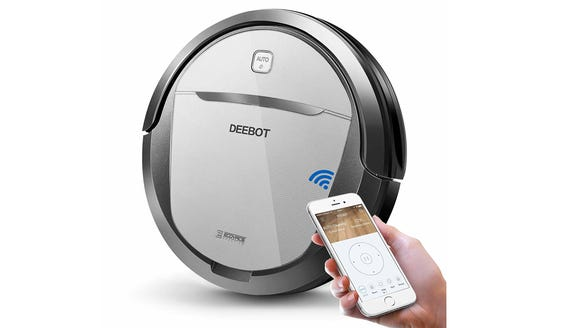 This smart robot vacuum can vacuum and mop.