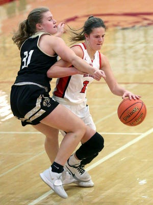 Lauren Labertew  posted eight points in the Lady Bullpup's substate opening win against Pratt. [FILE]