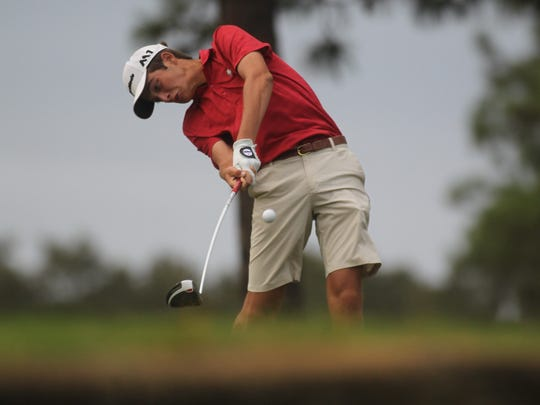 Leon's Ben Williams plays during Monday's City Championship at Hilaman Golf Course.