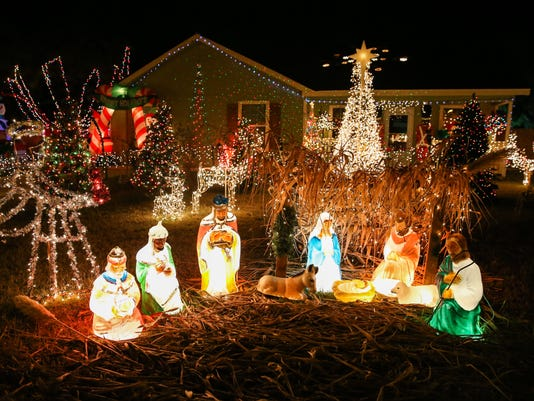 Christmas lights display in San Angelo