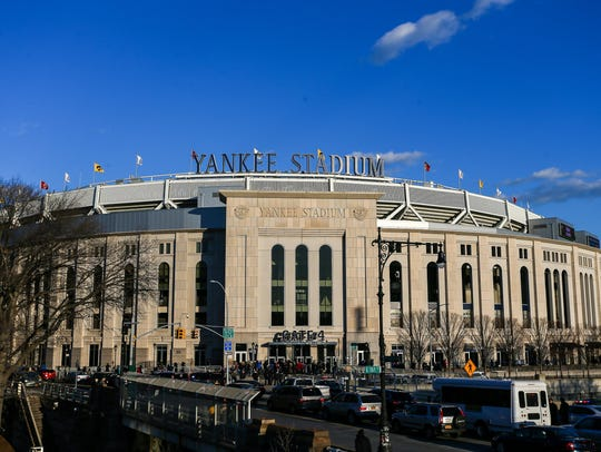 A general view of the stadium before the 2017 Pinstripe