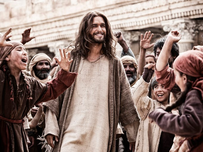 "Portuguese actor Diogo Morgado portrays Jesus Christ in both ""Son of God,"" now on screens, and in the television series ""The Bible."" Executive producer Roma Downey says he plays the part ""with tenderness and strength."""