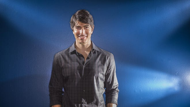 "Norwalk native Brandon Routh, star of ""Superman Returns"" and CW's superhero TV series ""Legends of Tomorrow,"" talks to the Register at the Hollywood in the Heartland display in the State Historical Society of Iowa."