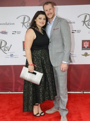 IndyCar driver Charlie Kimball walks the red carpet