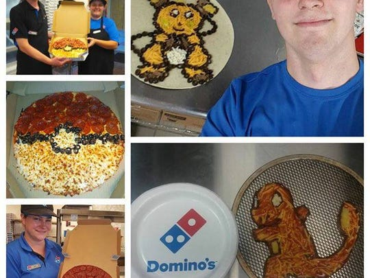 "Domino's pizza locations around Indianapolis recently held a ""Pokemon Go"" pizza making contest."