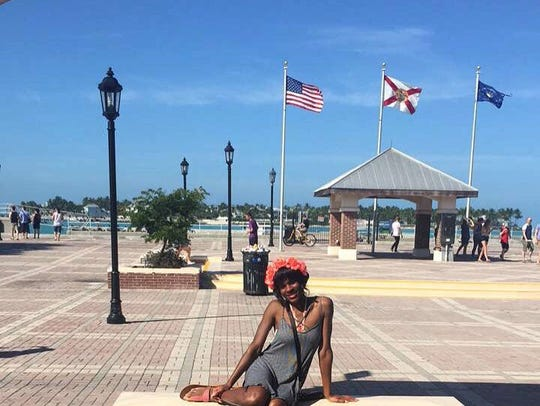 Breana Anderson enjoying her cruise just hours before